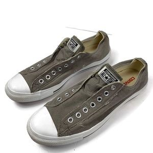 Converse All Star Chucks Slip On Gray Shoes Unisex